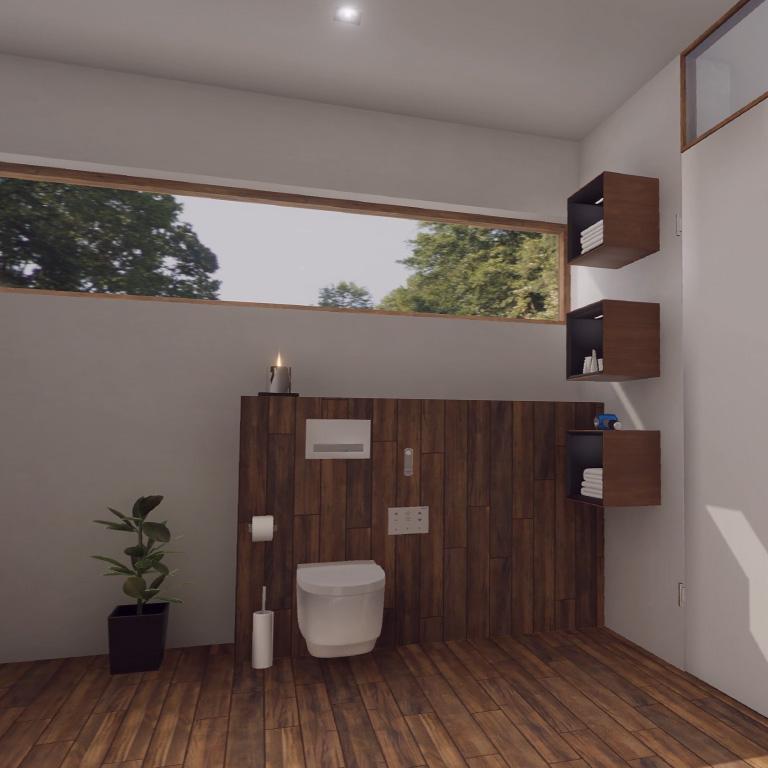 Blick auf den innovativen VR WC Bereich. Virtual Reality aus Leipzig.
