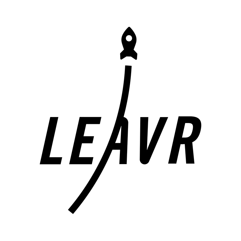 Das LEAVR Virtual Reality Arcade Logo aus Leipzig.